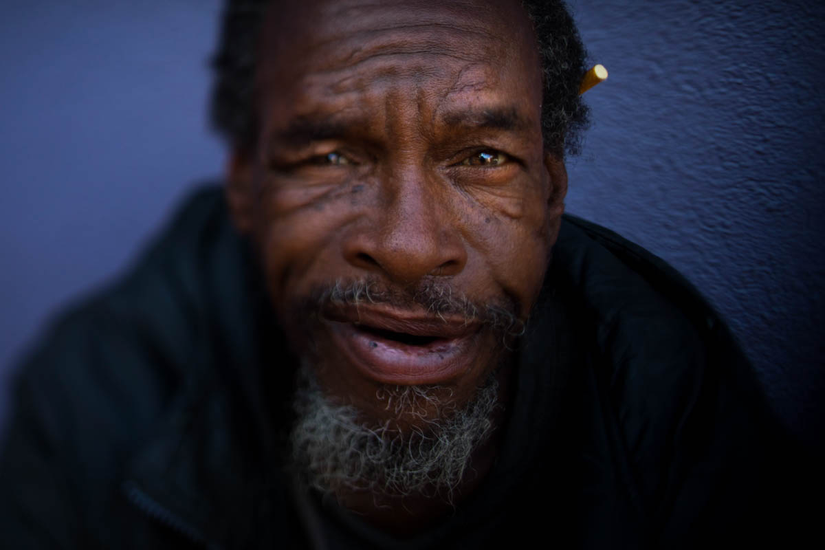 Moi Williams, 59, on September 13 in Los Angeles. Williams, who has been homeless for four years, said he is comfortable sleeping on the street.'I'm not bothering nobody. I'm not being bothered.' The homeless are easy to pass by on the street. It's harder when you look into their eyes. Their gazes hint at lost promise or a glimmer of hope. Some are sad, some placid, others haunting. Behind each person is a story that however vague offers some glimpse into their lives.' [Jae C. Hong/AP Photo]