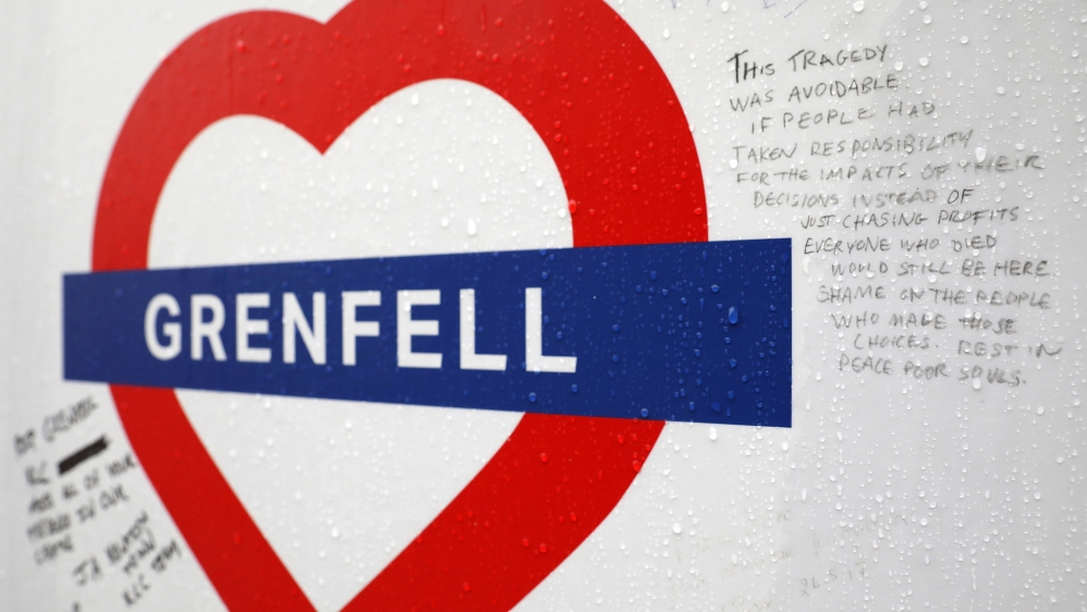 Royal family joins survivors of Grenfell Tower fire for memorial