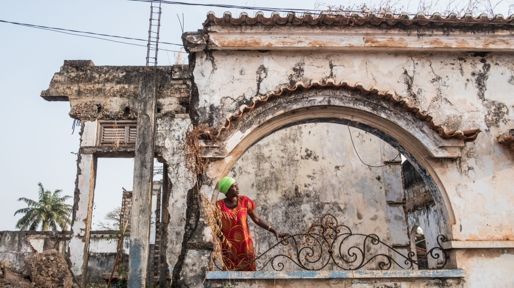 Crumbling architecture of former narco-state in Bissau