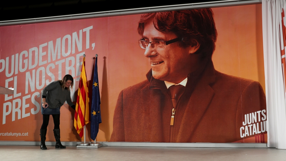 Spain withdraws European arrest warrant for Puigdemont