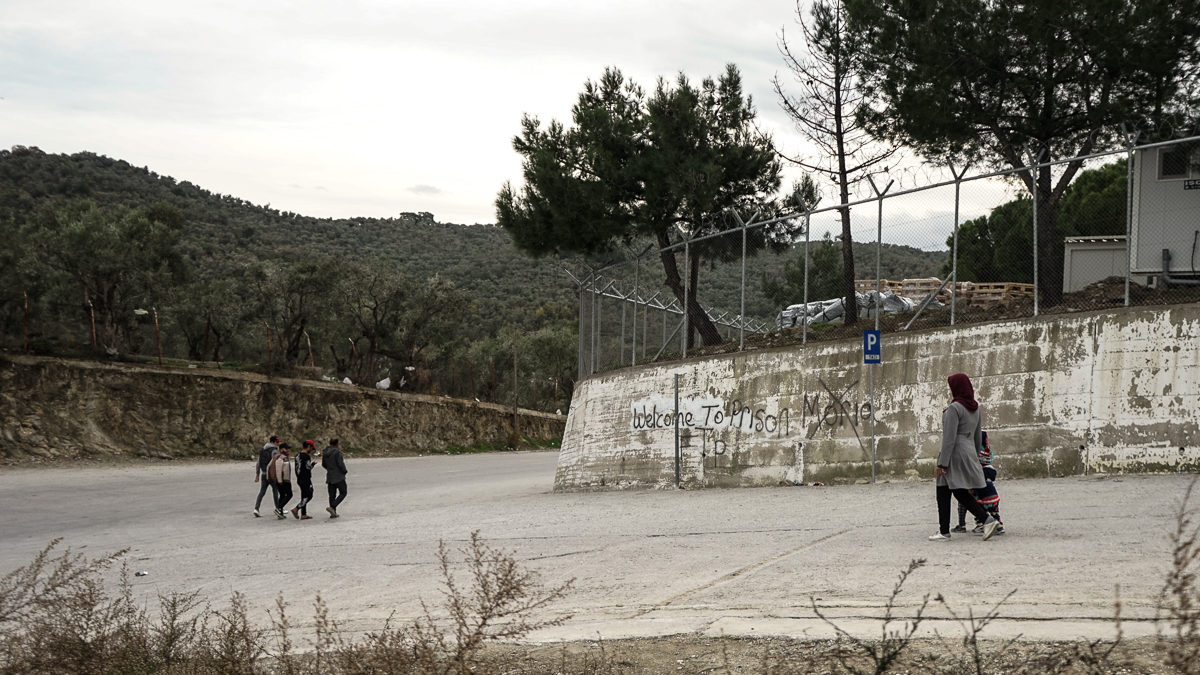Moria, a partially closed camp, is officially home to at least 6,000 refugees and migrants, but residents say the number is much higher. [Patrick Strickland/Al Jazeera]