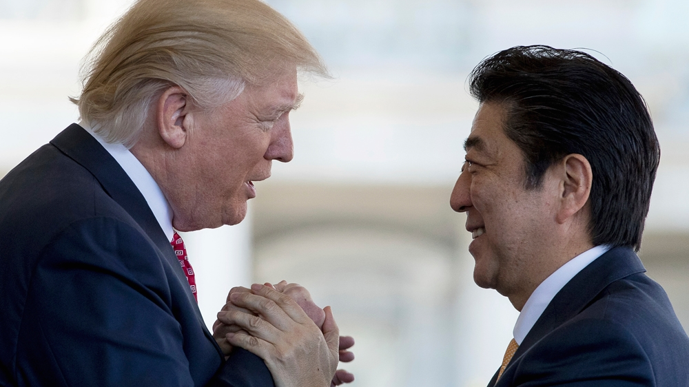 Abe made a pitch to Trump for Japanese high-speed rail technology