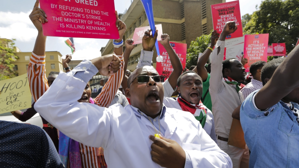 Doctors' union cancels government talks after officials are hit with 30-day jail term over strike at public hospitals.