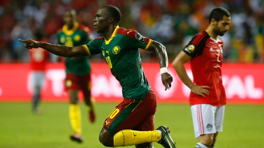 Afcon cameroon beats egypt to lift african title 2017 news al cameroons aboubakar celebrates after scoring the winning goal mike hutchingsreuters sciox Choice Image
