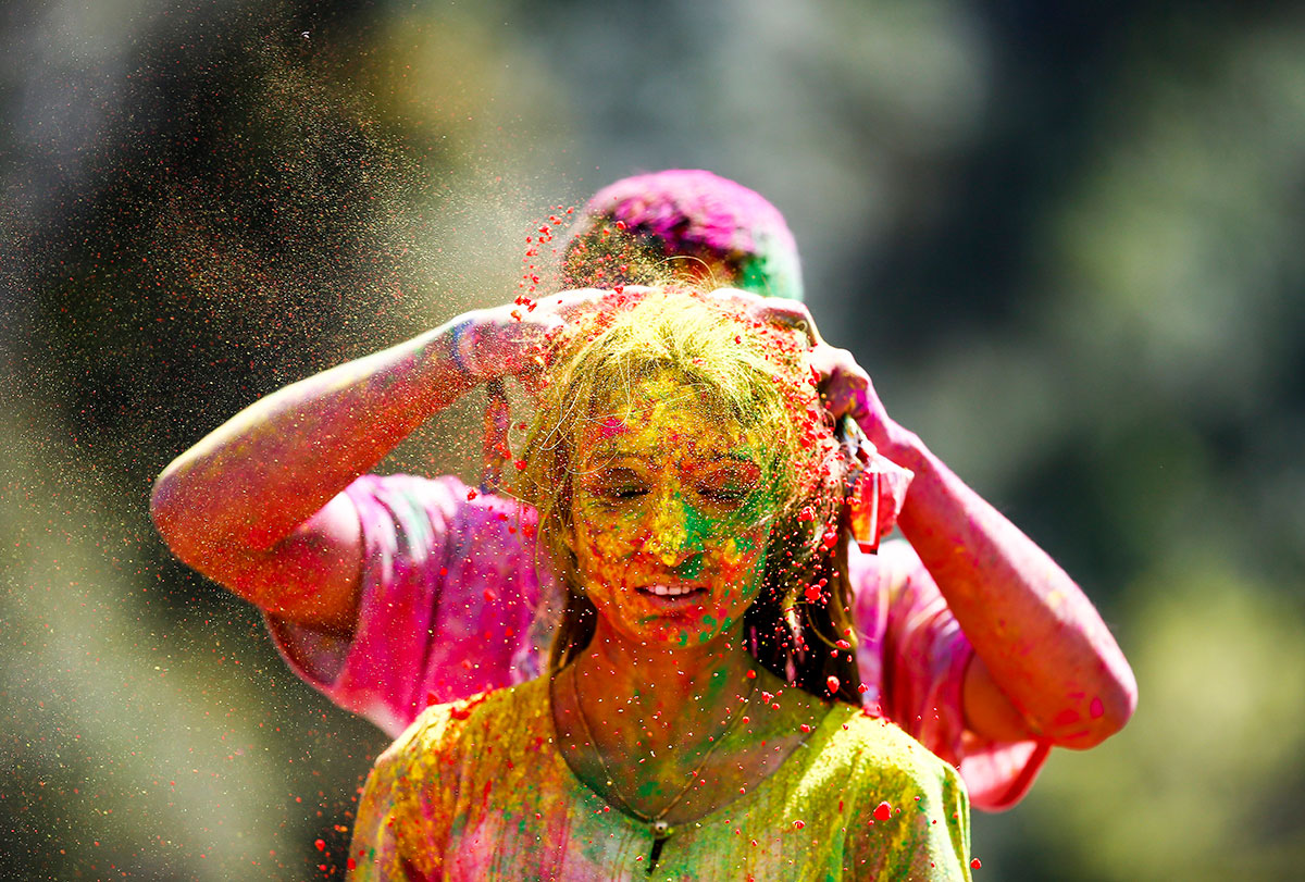 A Feast Of Spectacular Colour As Hindus Celebrate Holi