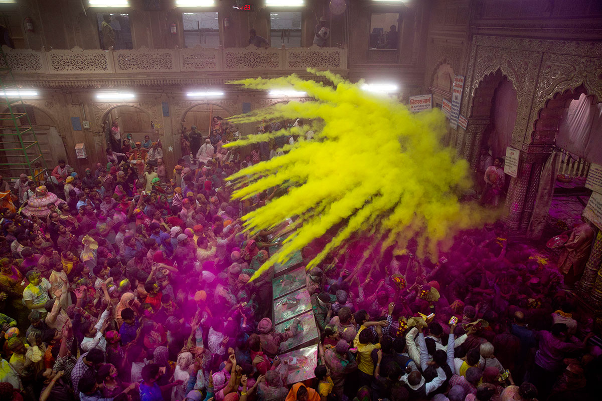 Holi, the festival of colours, marks the arrival of spring. [Manish Swarup/AP Photo]