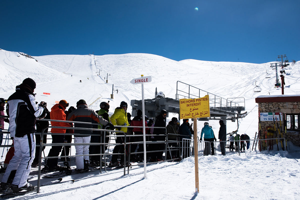 There are six ski resorts in Lebanon, but Mzaar ski resort at Kfardebien is the oldest and largest. It operates from the beginning of December to the end of April. [Constance Decorde/Al Jazeera]