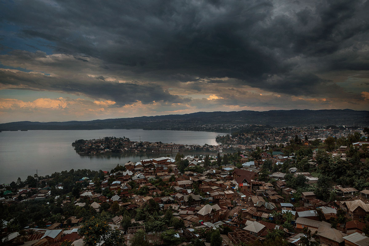 A view from above the city of Bukavu, in the northeast of the Democratic Republic of the Congo (DRC). [Marco Gualazzini/Al Jazeera]