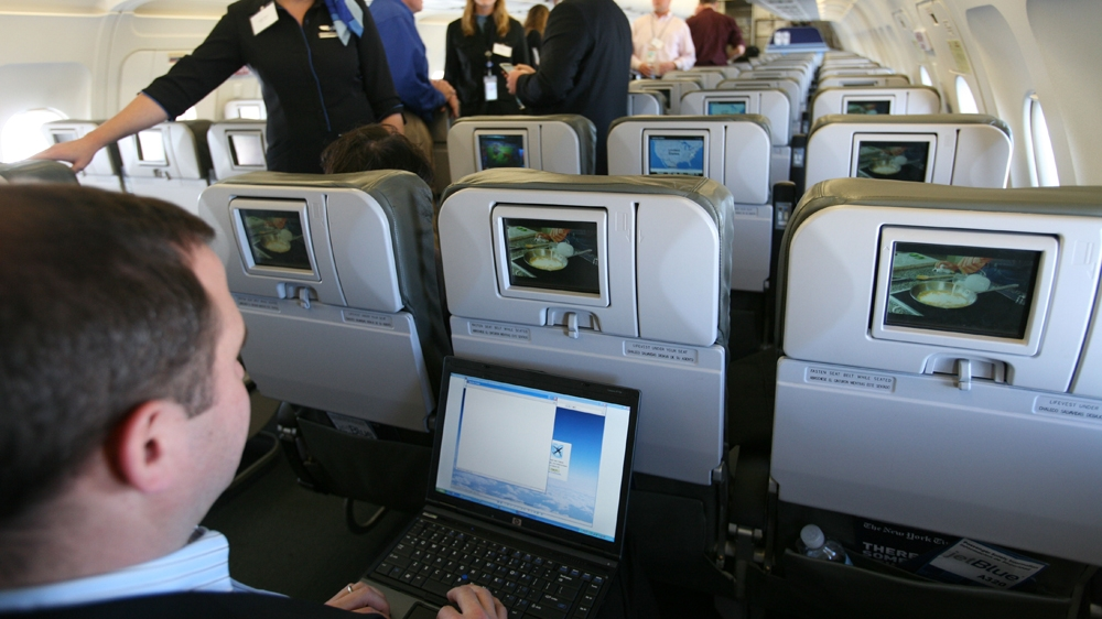 Image result for ban laptops on aircraft cabin