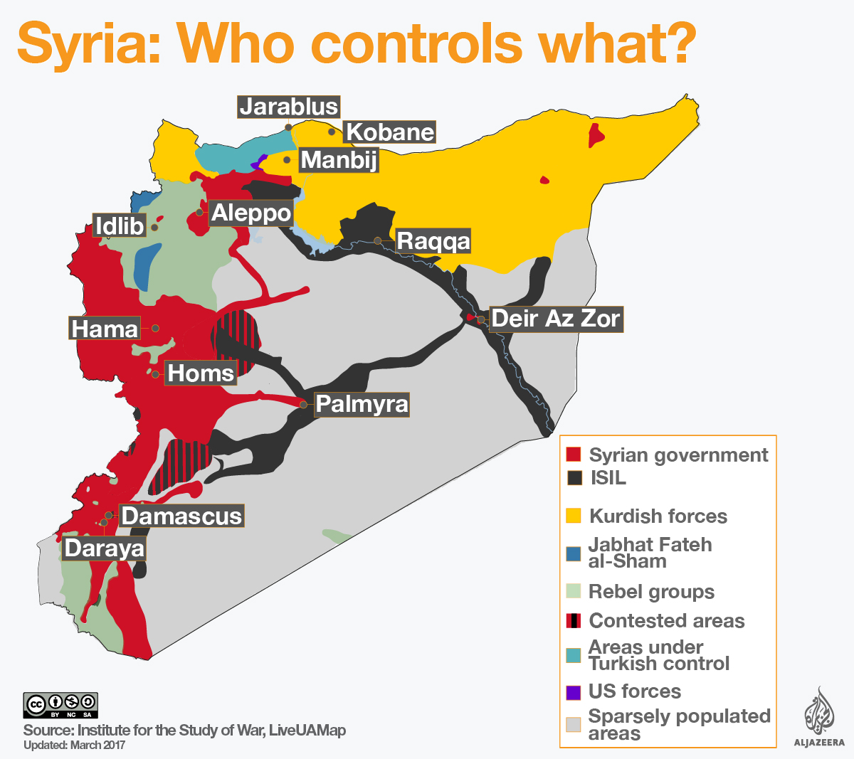 Analysis Whats Next For Turkey In Syria Turkey Al Jazeera - Map of area that us forces control in syria