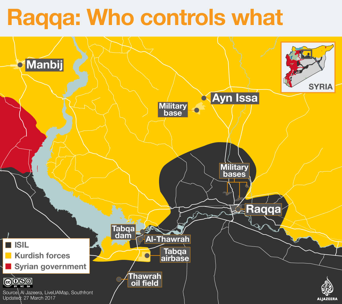 raqqa isis isil who controls what syrian civil war map infographic