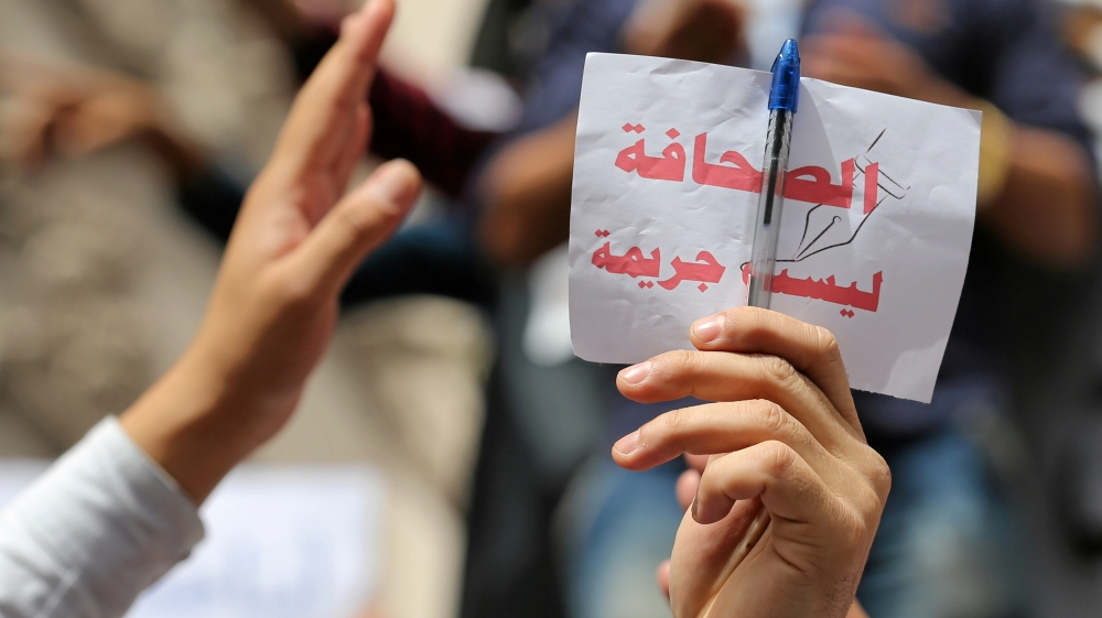 Egypt 'one of the biggest prisons for journalists'