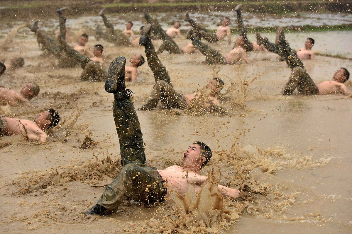 Paramilitary policemen attend a training session in Guigang, Guangxi Zhuang Autonomous Region, China. [China Daily/Reuters]