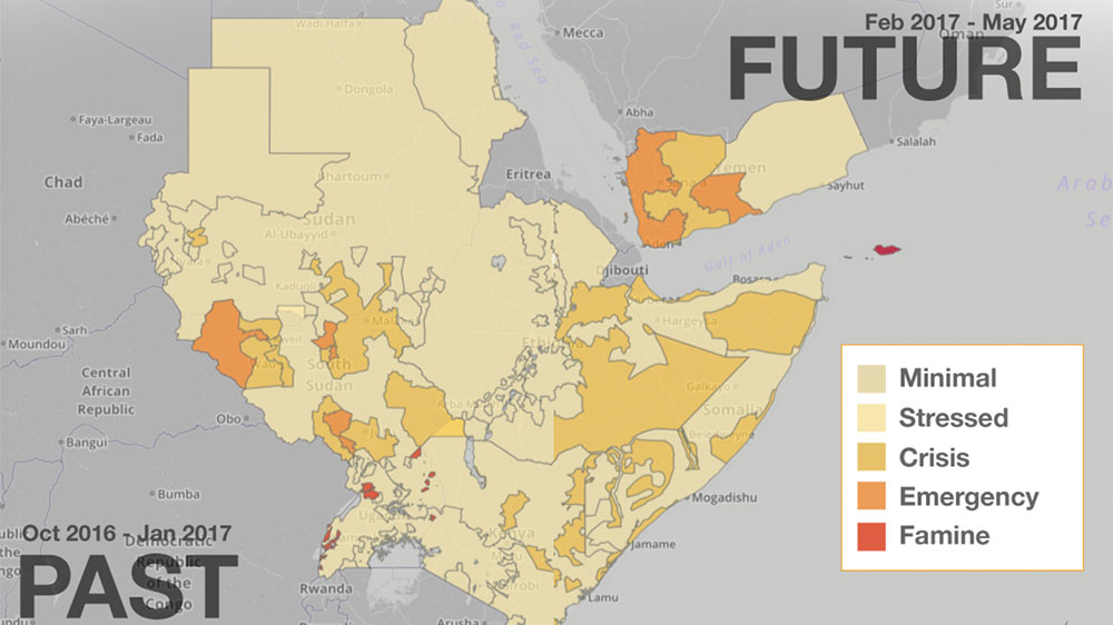 Horn of Africa Mapping six months of hunger Al Jazeera