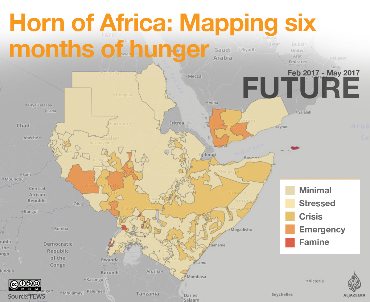 Horn of Africa: Mapping six months of hunger | | Al Jazeera