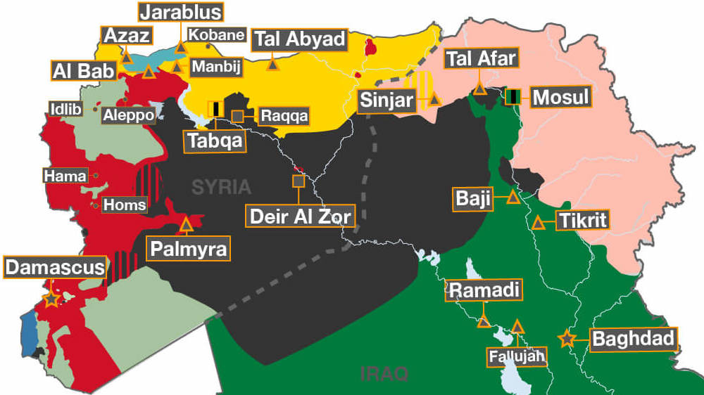 mapped the battle against isil syria al jazeera