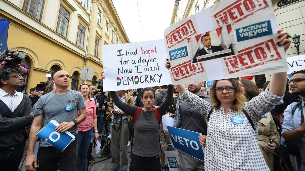 Why is Hungary trying to shut down a university?