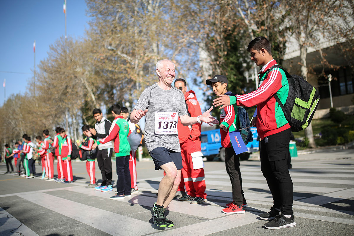 The Tehran Marathon was the first ever long-distance event hosted in the Iranian capital. [Mohammad Ali Najib/Al Jazeera]