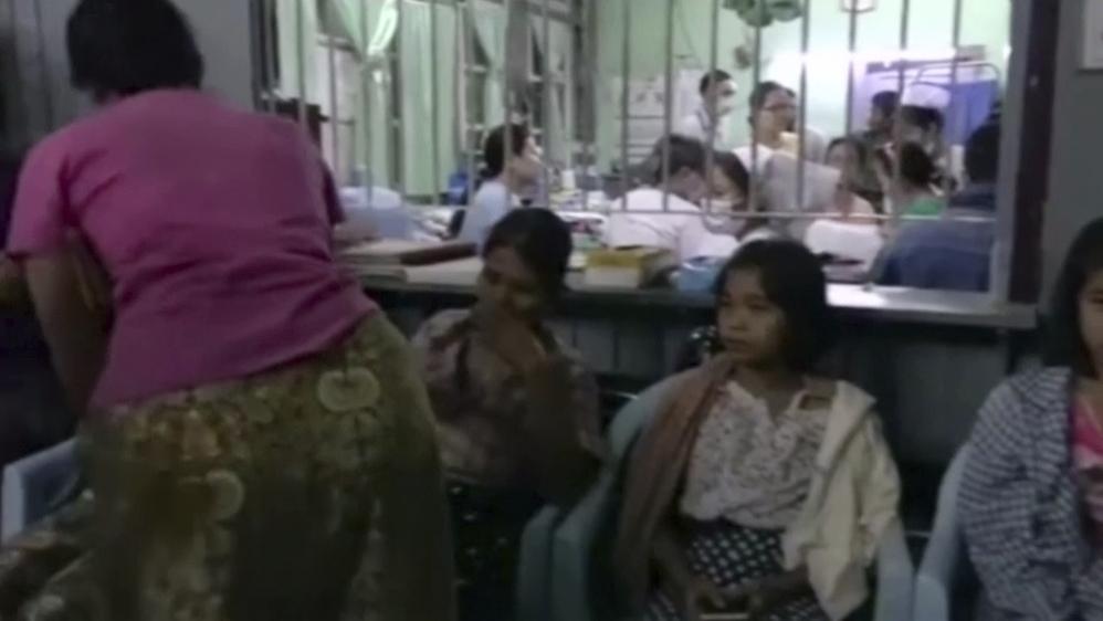 Myanmar ferry capsizes