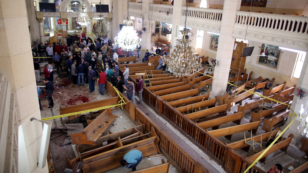 Palm Sunday bombings at two Coptic churches in Egypt kill 49