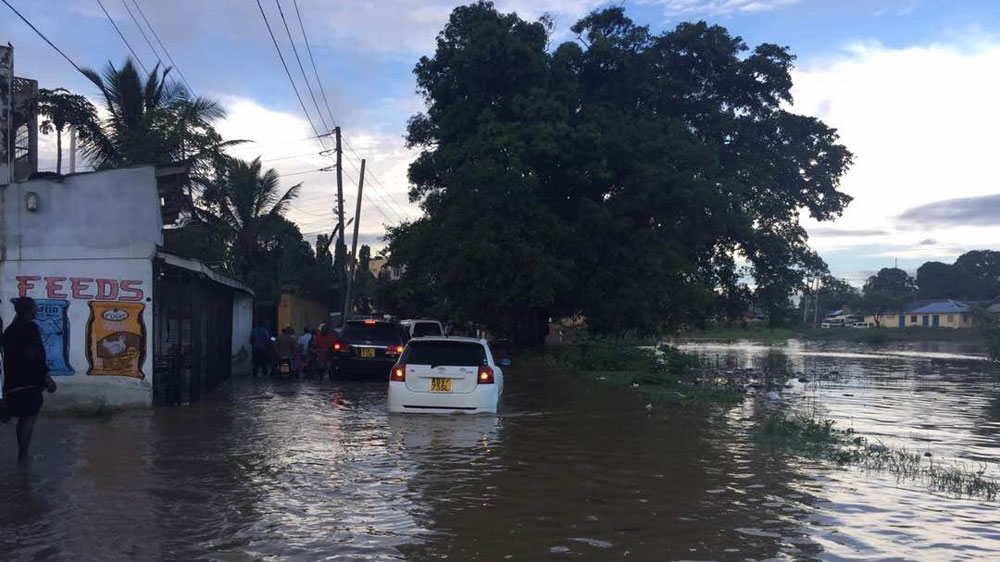 Heavy downpours cause floods along eastern parts of Kenya and Tanzania.