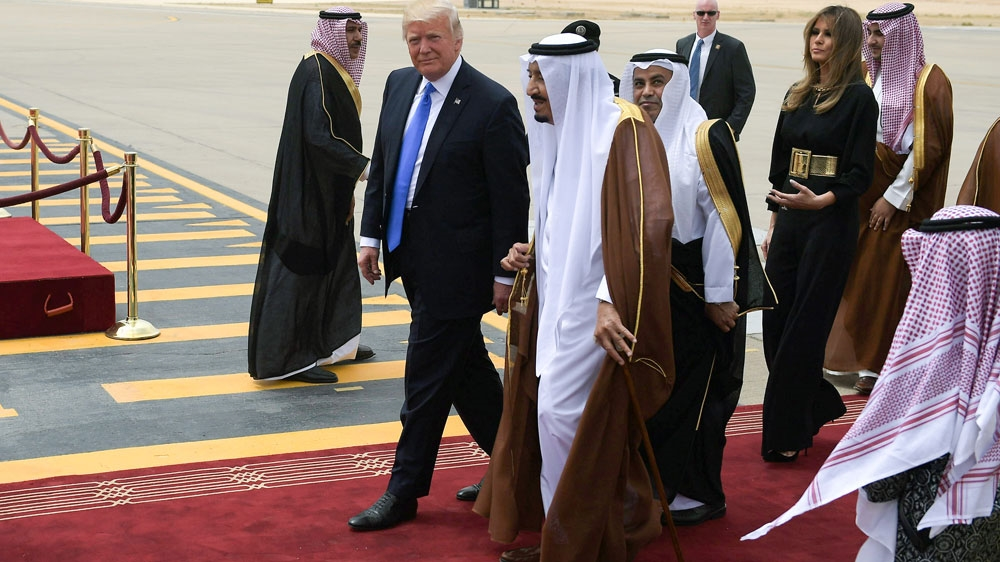 Image result for pics of trump visit to saudi arabia