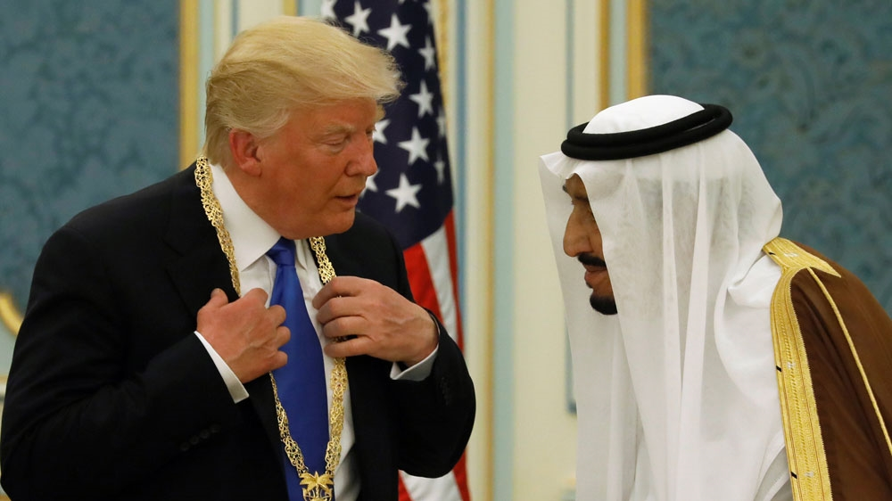 Trump-Salman image in Algeria angers Saudi Arabia