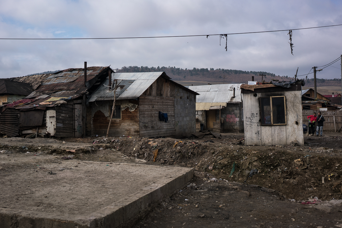 Many of the homes in Jarovnice and slums like it have no running water and no electricity. [Sorin Furcoi/Al Jazeera]