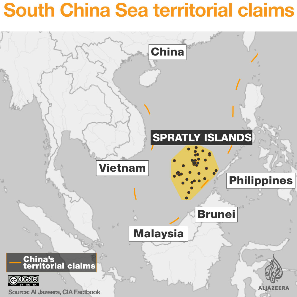Interactive islands row around china al jazeera spratly islands claims south china sea infographic gumiabroncs Image collections