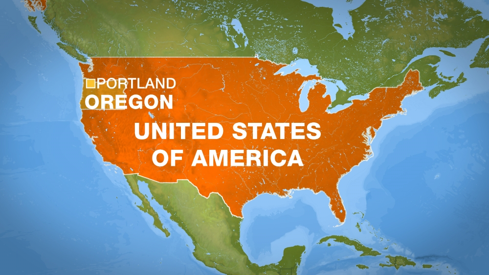 Two Killed On Portland Train After Defending Muslims USA News - Portland oregon on us map