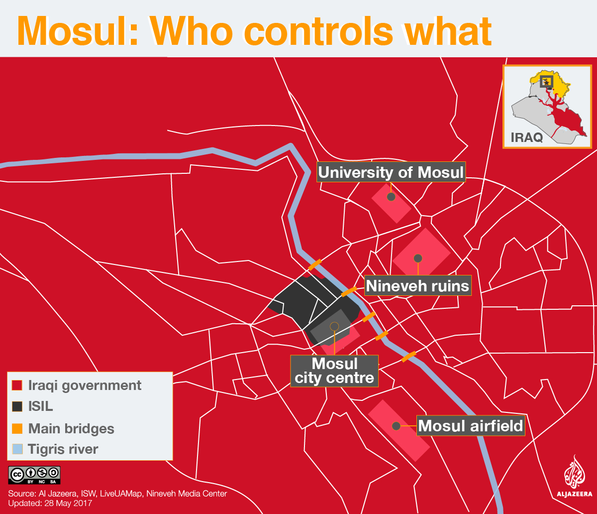 mosul who controls what map infographic