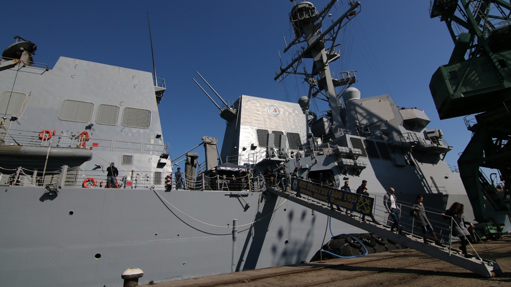 US naval warships arrive in Qatar for military exercise