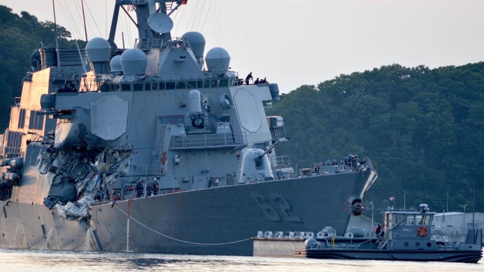 Bodies found after U.S. destroyer collision off Japan