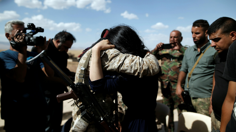 Islamic State's former Yazidi sex slave sheds tears on returning home