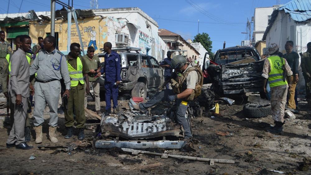Car bomb kills four outside Mogadishu police station