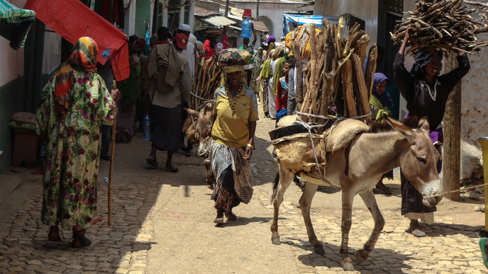 The walled city of Harar in eastern Ethiopia