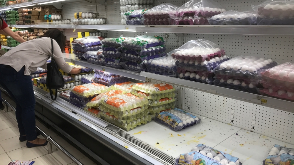 Fresh produce, eggs and milk remain in high demand in supermarkets, according to staff
