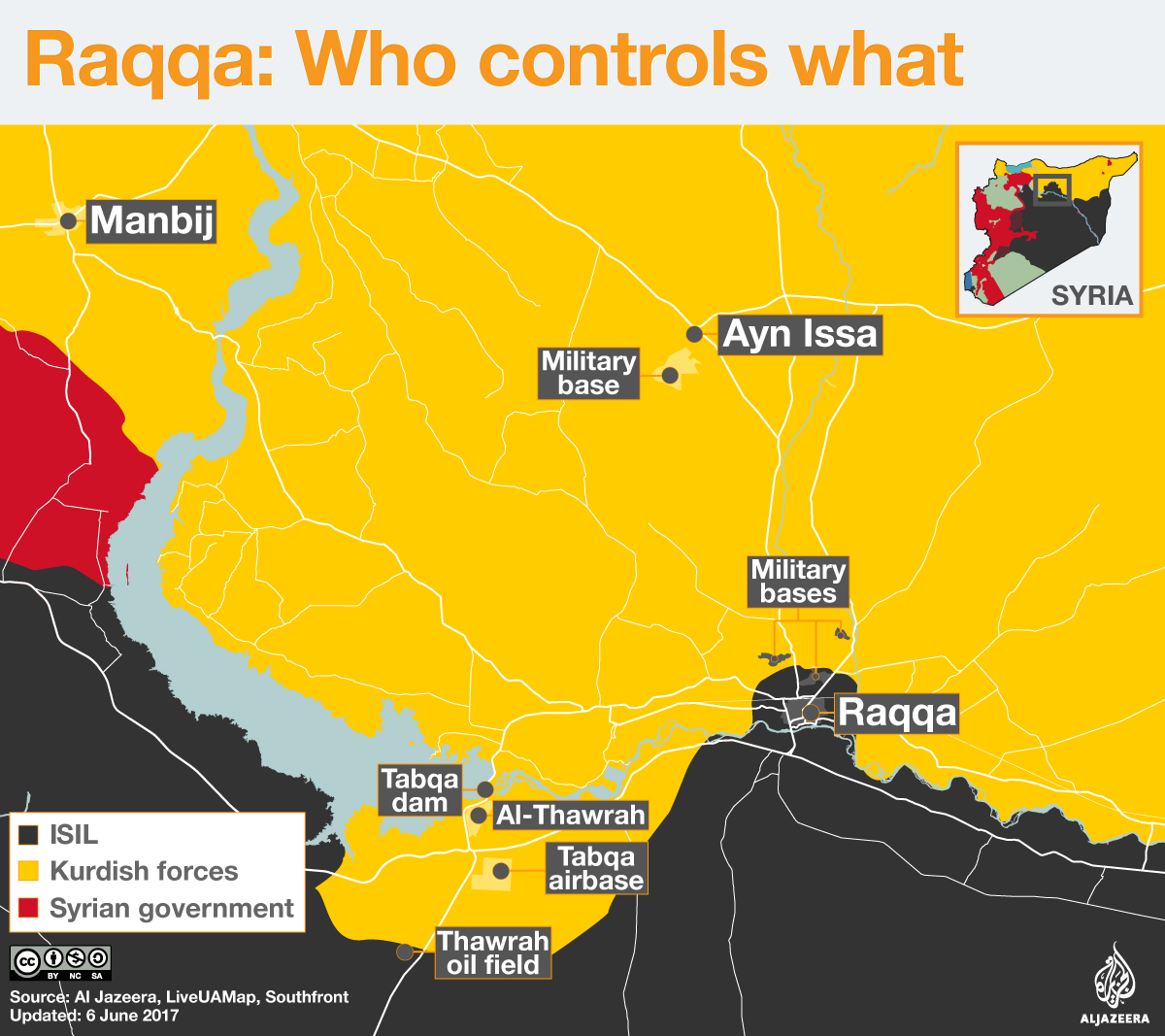 raqqa who controls what map infographic