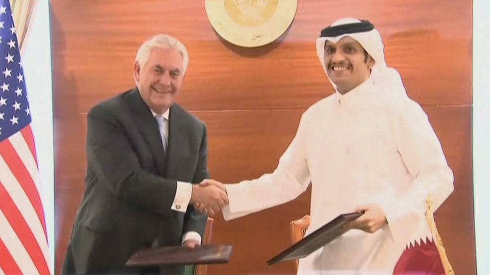 US, Qatar sign deal to combat 'terrorism financing'
