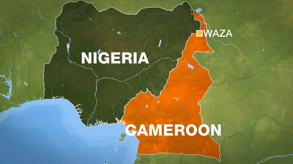 More than 40 others wounded as two female bombers target busy area in northern Cameroon, local officials say.