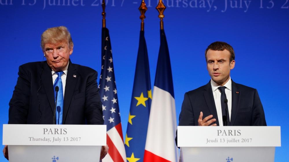 Trump and Macron discuss security ties
