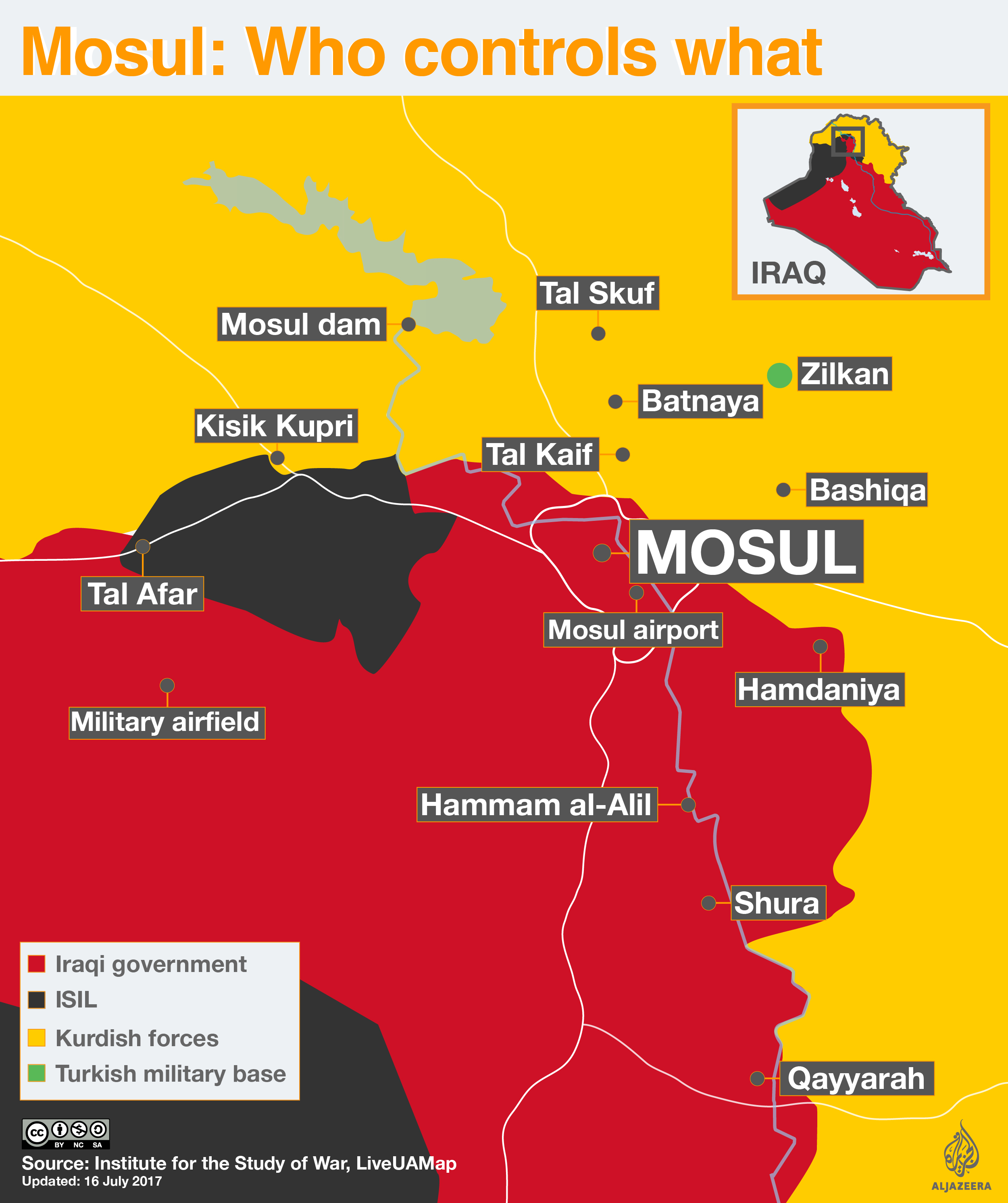 Battle for Mosul Who controls what Iraq Al Jazeera
