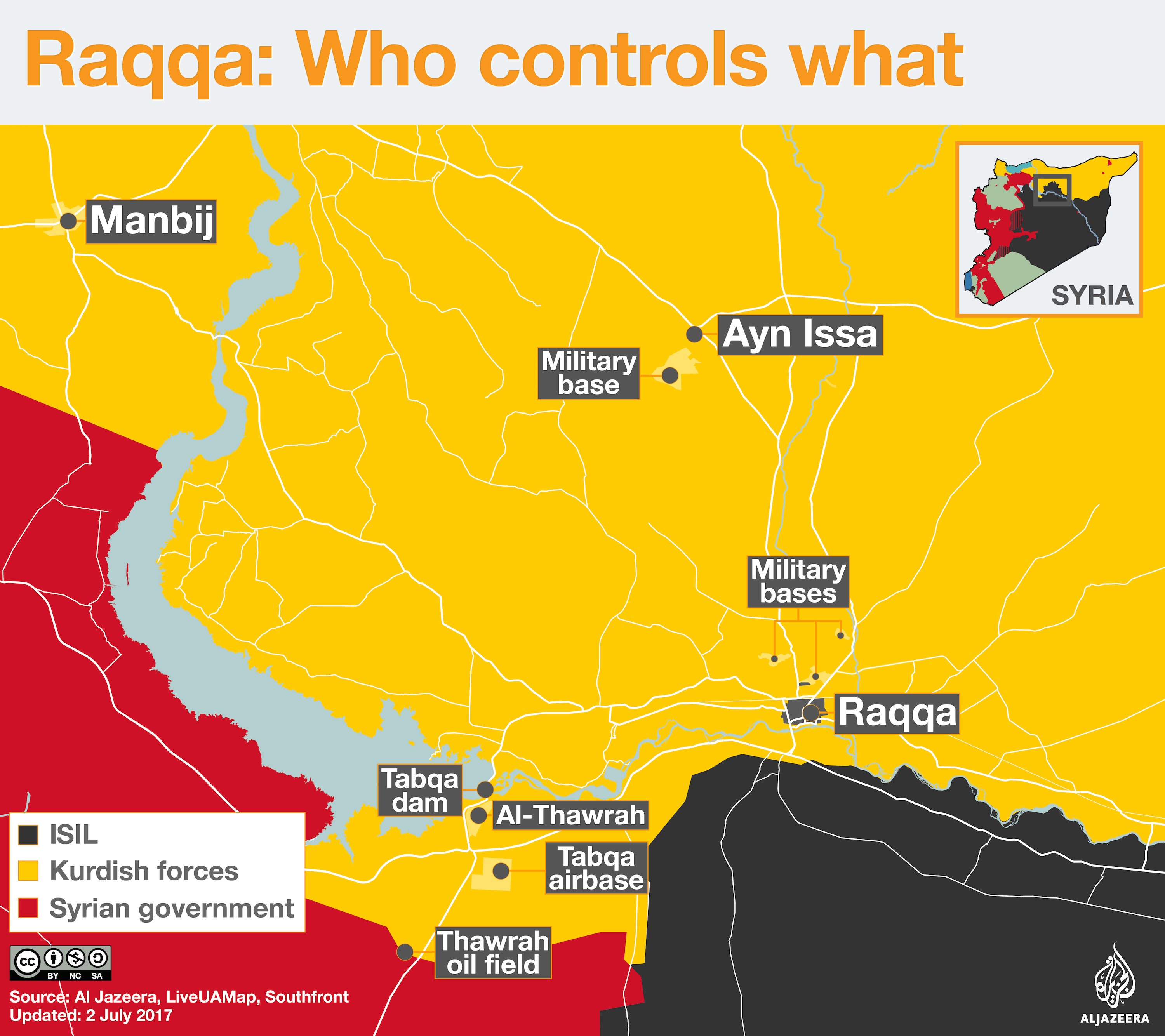 isis battle for raqqa who controls what civil war map infographic