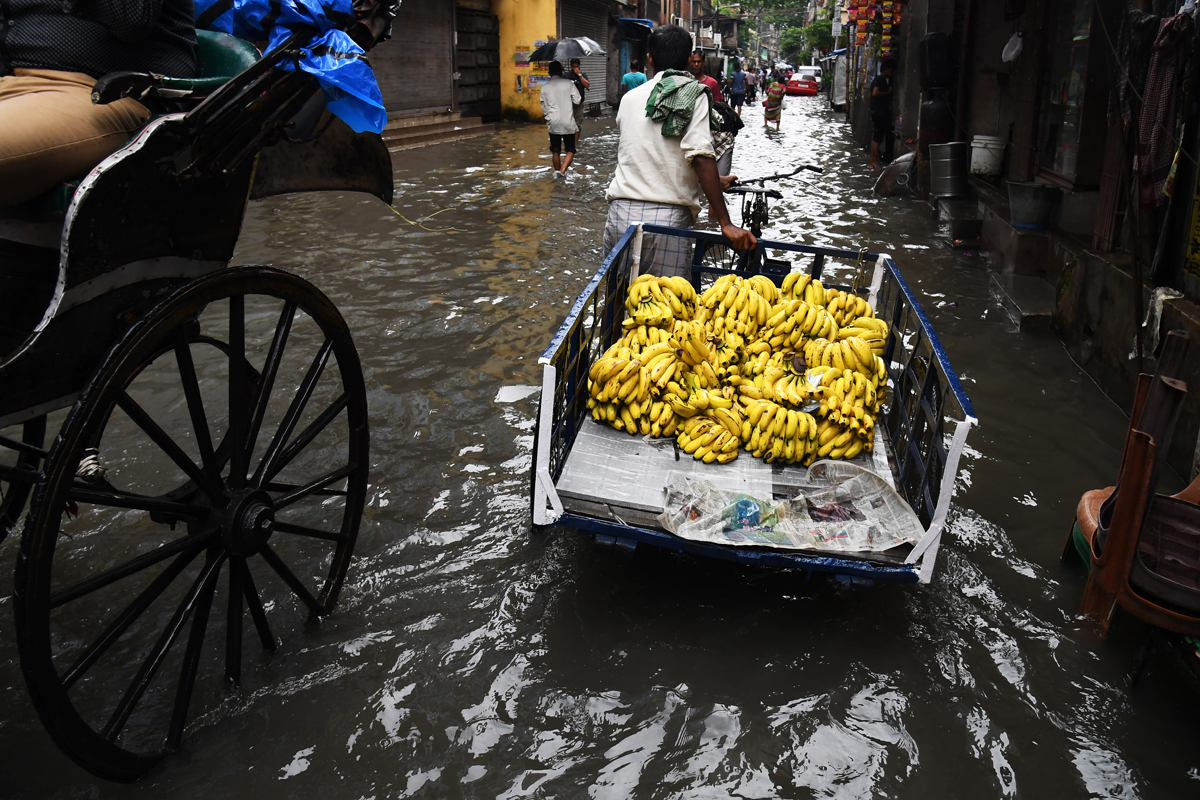 India: Monsoon rains have been destructive and deadly across the country this year. [Dibyangshu Sarkar/AFP]