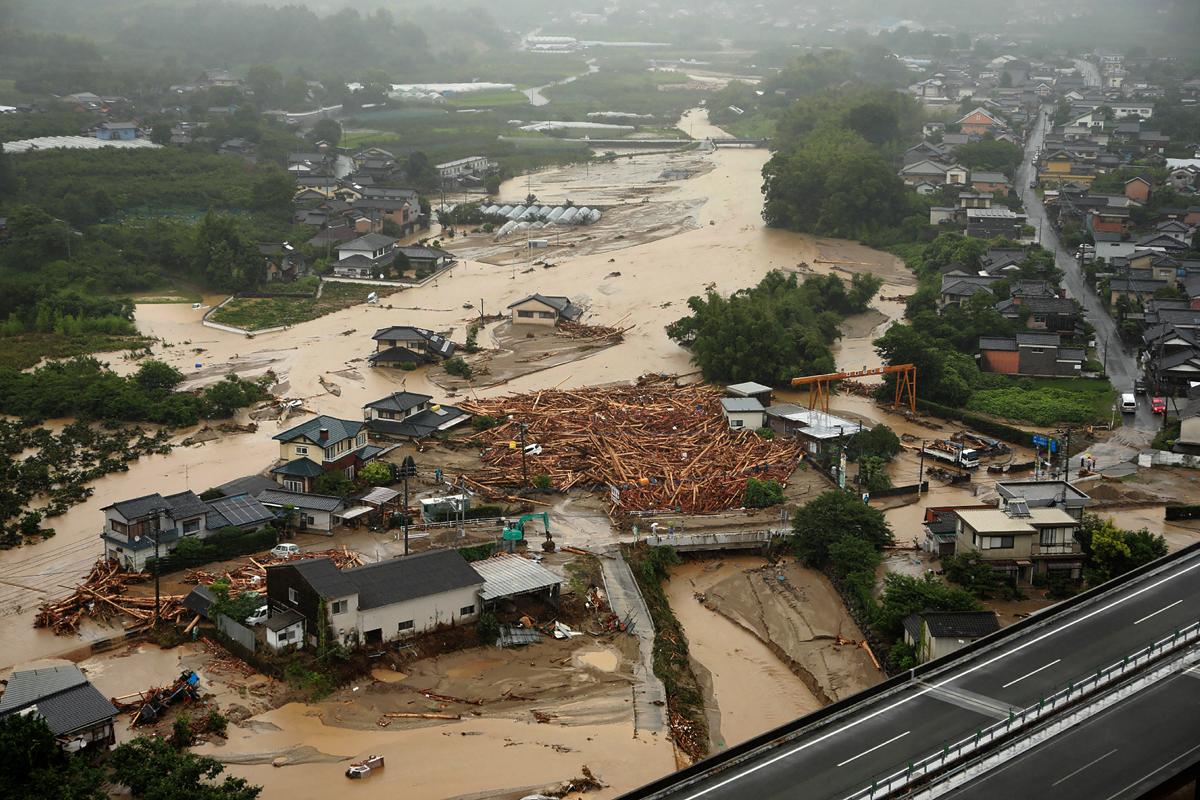 Southern Japan areas devastated by floods | Japan | Al Jazeera