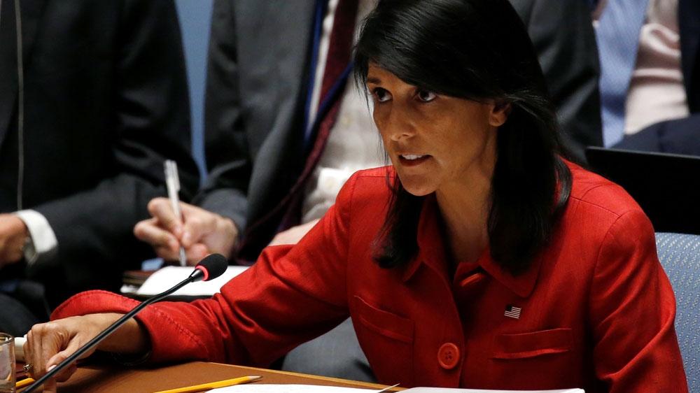 US vetoes resolution on Trump's Jerusalem decision