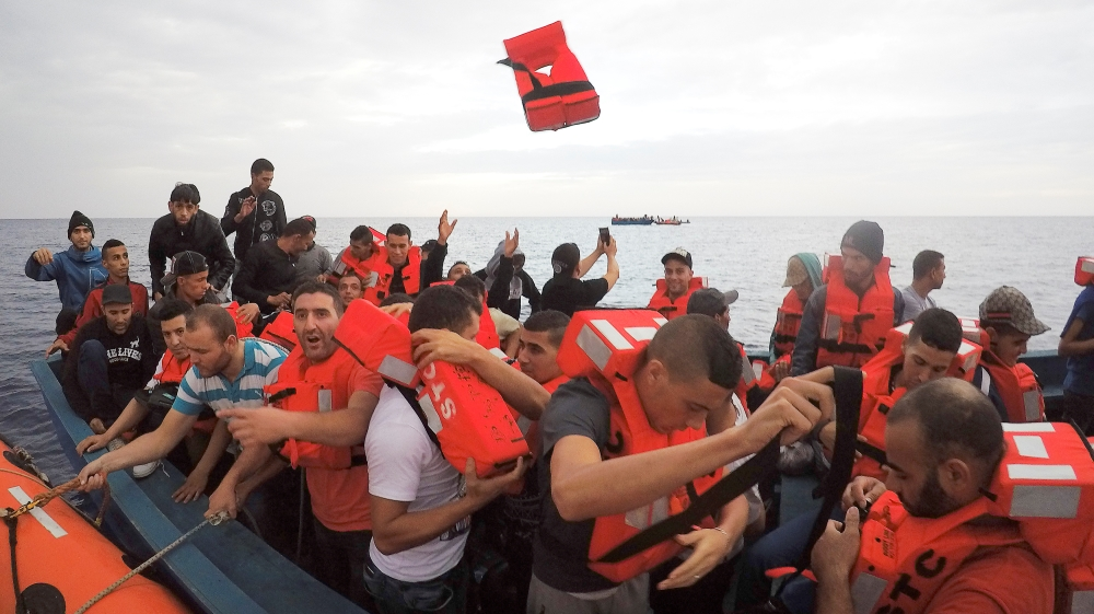 EU ministers agree to reinforce the Libyan coastguards to try to discourage arrival of undocumented people.