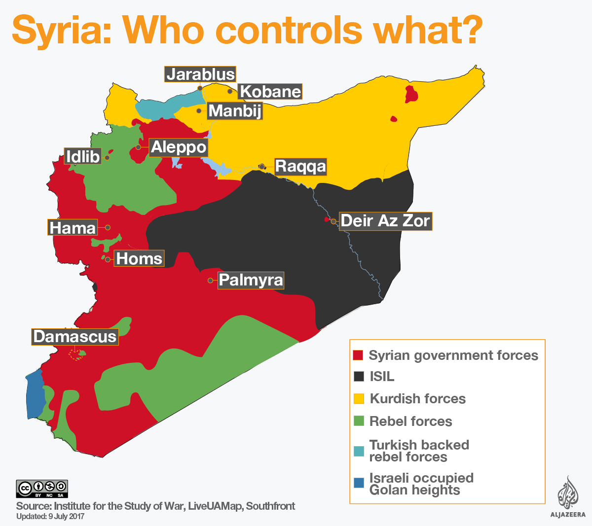 syria who controls what infographic