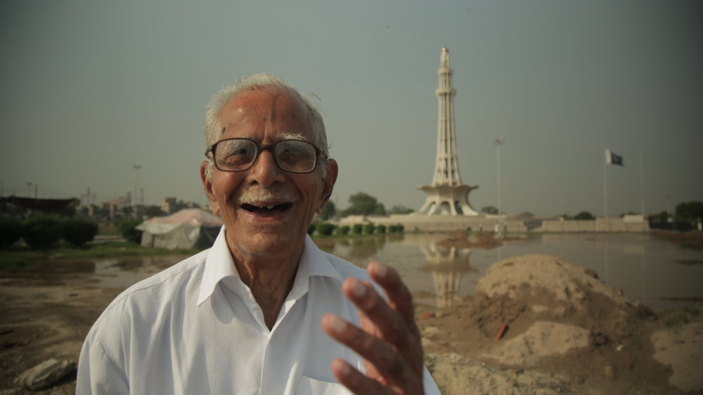 Mr Khanna in Iqbal Park, Lahore. He grew up not far from the city in eastern Pakistan, but was forced to flee to India after the country's partition [Al ...