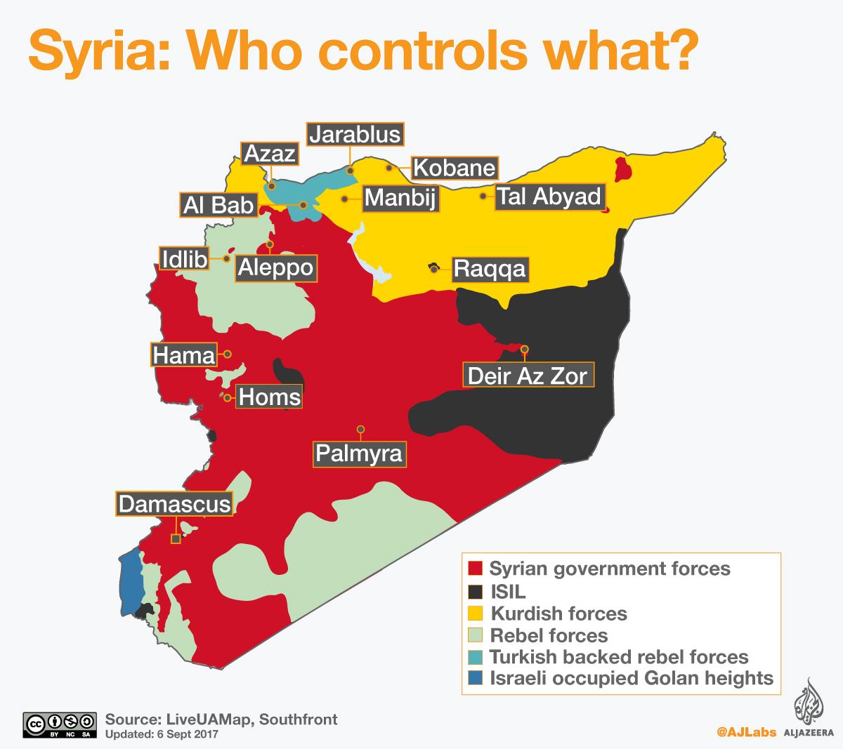 Who Controls What In Syria September 2017